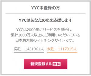 YYCの男女比